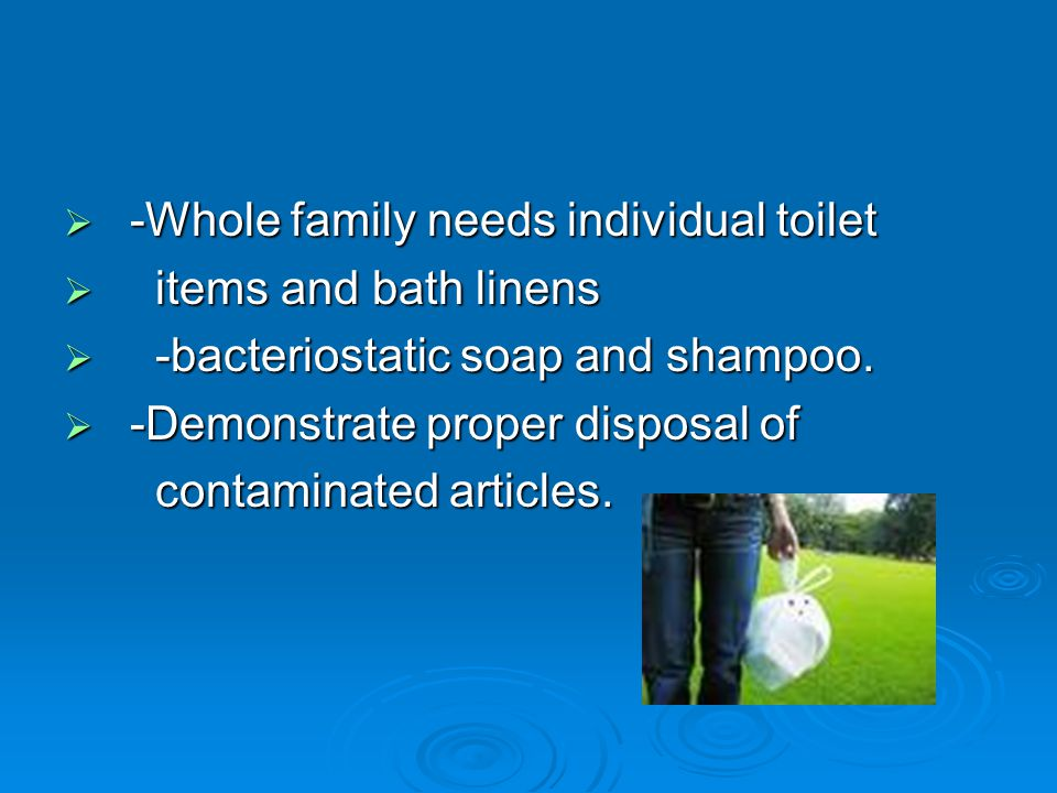 -Whole family needs individual toilet