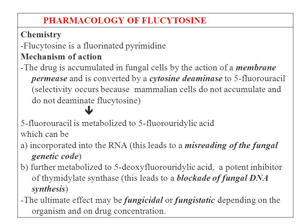 PHARMACOLOGY OF FLUCYTOSINE