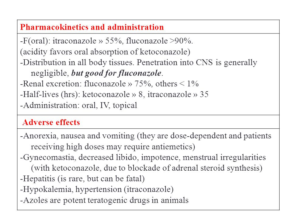 Pharmacokinetics and administration