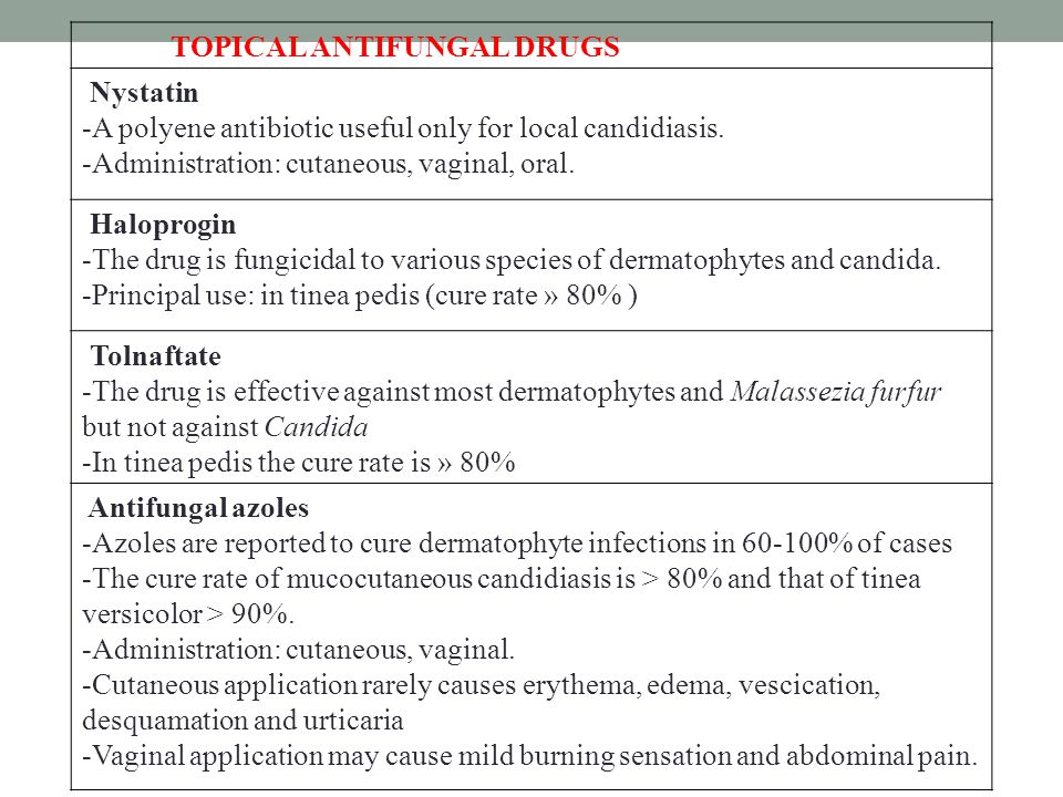 TOPICAL ANTIFUNGAL DRUGS