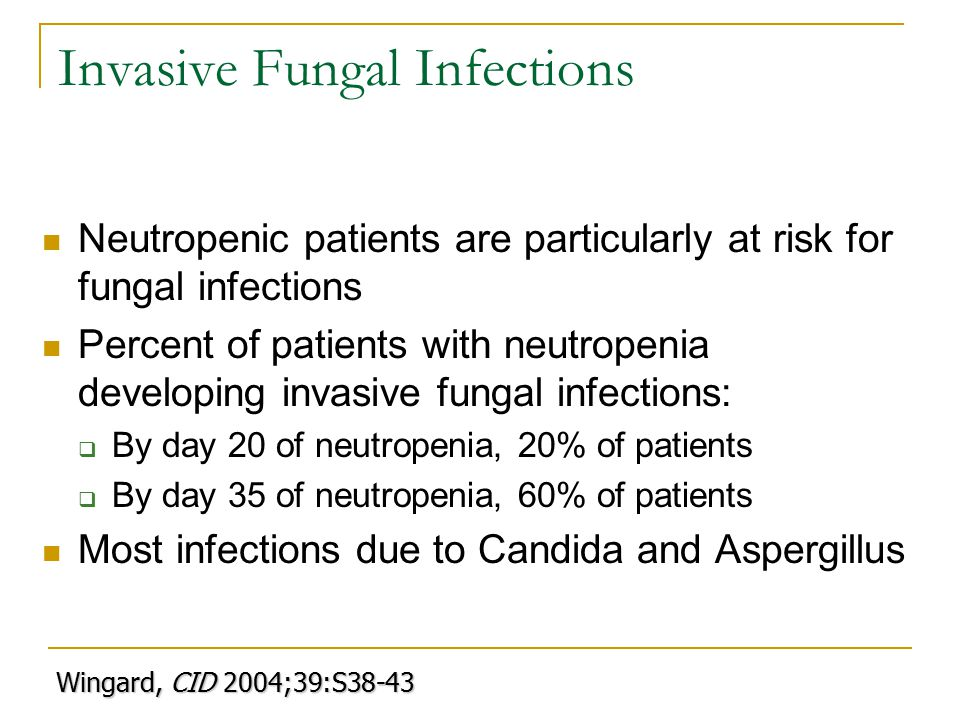 Invasive Fungal Infections