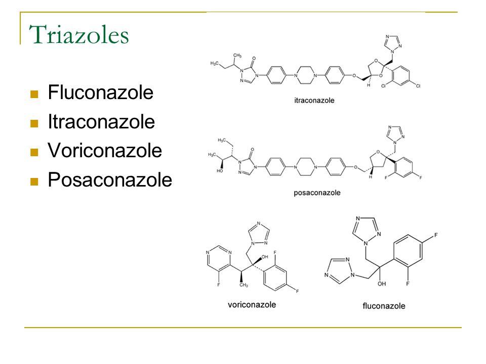 Triazoles Fluconazole Itraconazole Voriconazole Posaconazole