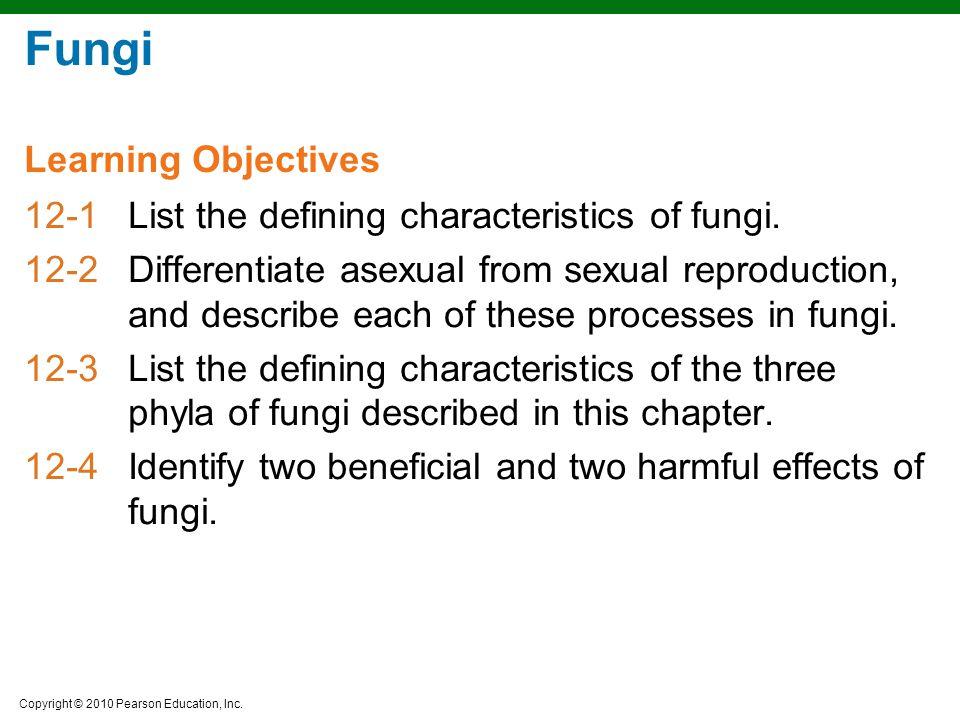 Fungi Learning Objectives