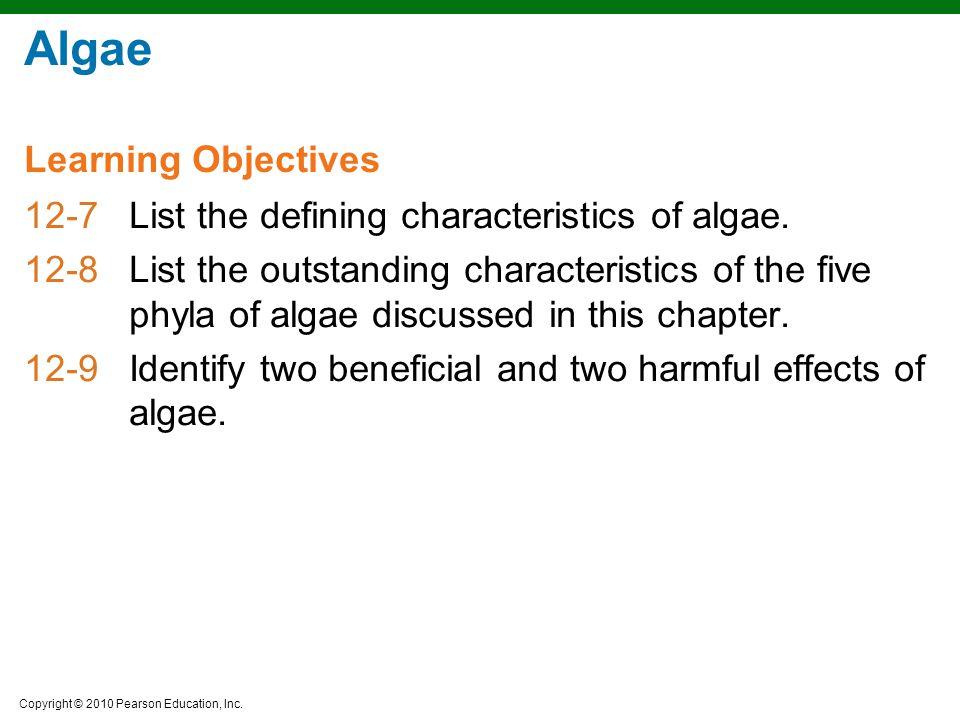 Algae Learning Objectives