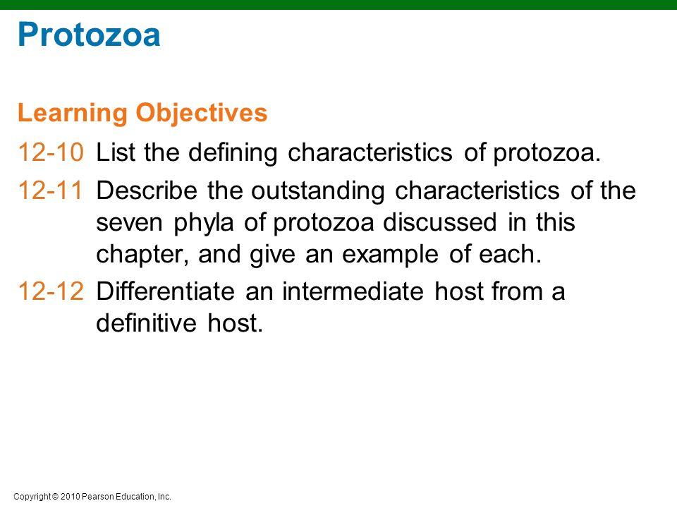 Protozoa Learning Objectives
