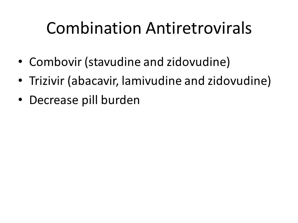 Combination Antiretrovirals