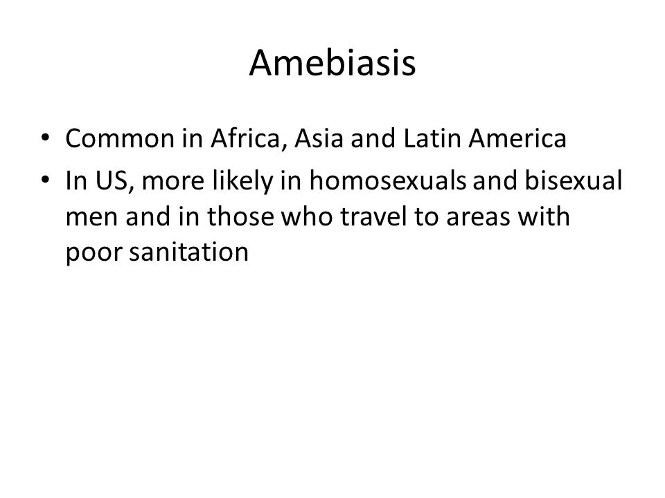 Amebiasis Common in Africa, Asia and Latin America