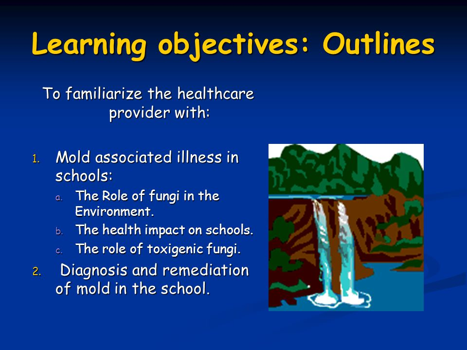 Learning objectives: Outlines