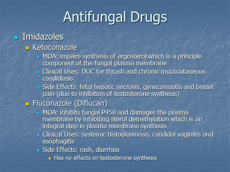 Antifungal Drugs Imidazoles Ketoconazole Fluconazole (Diflucan)