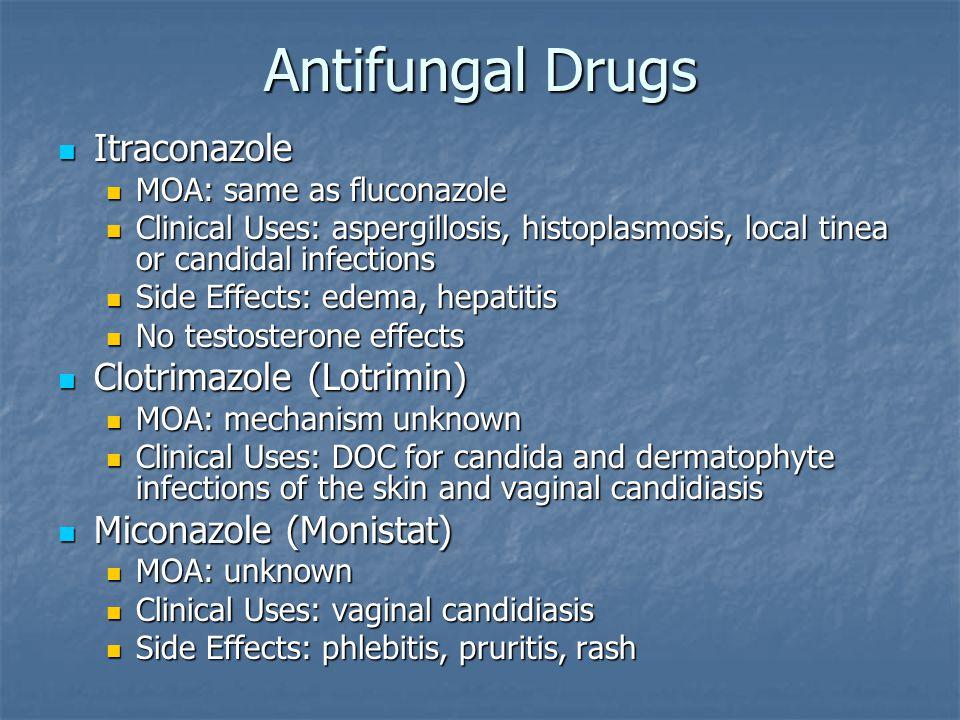 Antifungal Drugs Itraconazole Clotrimazole (Lotrimin)