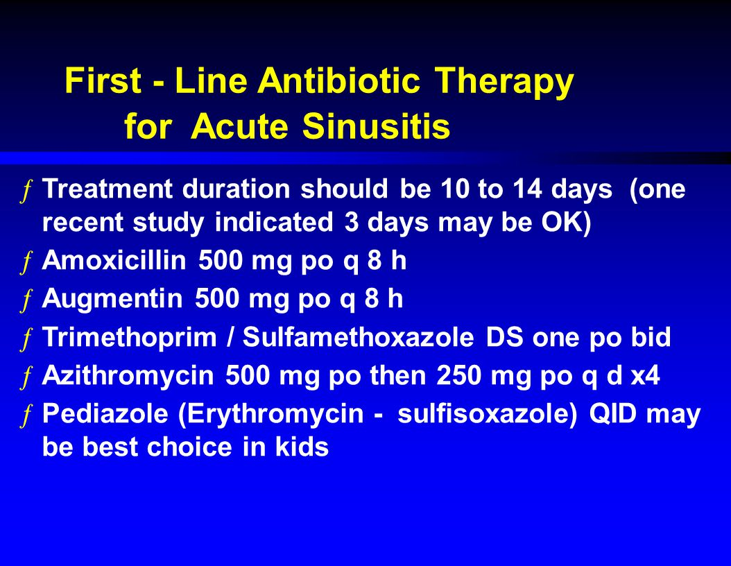 First - Line Antibiotic Therapy for Acute Sinusitis