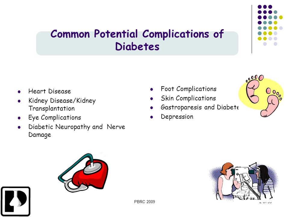 Common Potential Complications of Diabetes