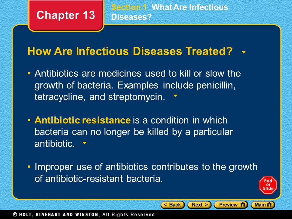 How Are Infectious Diseases Treated