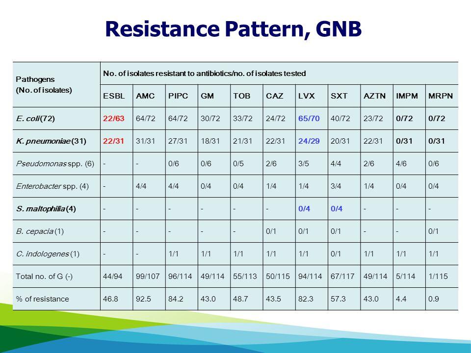 Resistance Pattern, GNB
