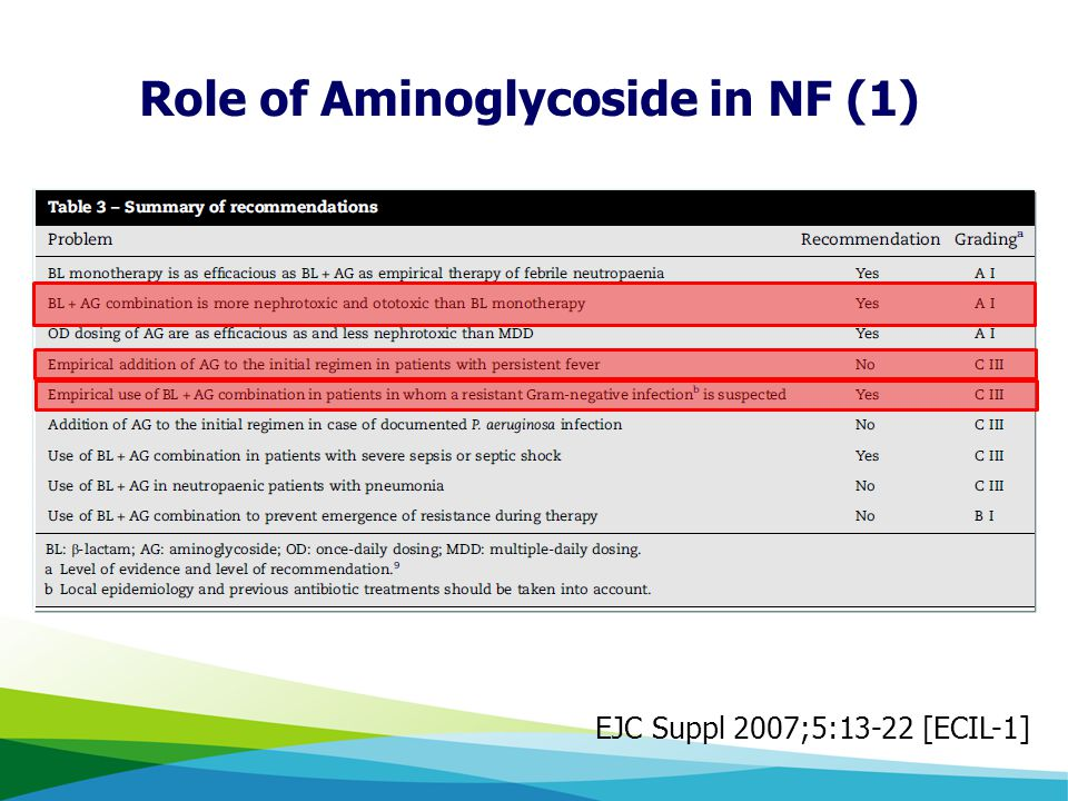 Role of Aminoglycoside in NF (1)