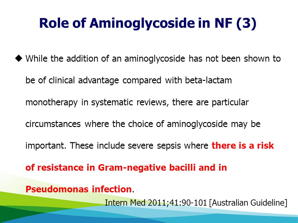 Role of Aminoglycoside in NF (3)