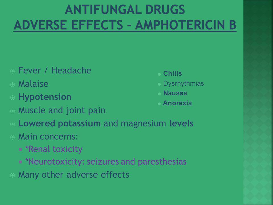 Antifungal Drugs Adverse Effects – Amphotericin B