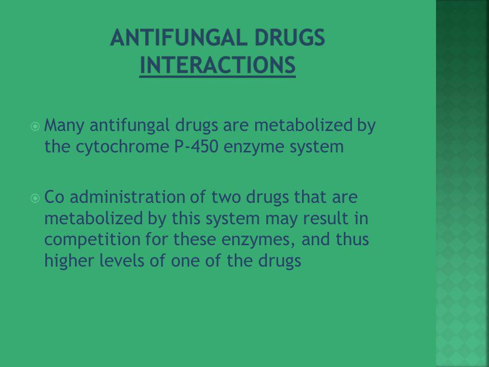 Antifungal Drugs Interactions