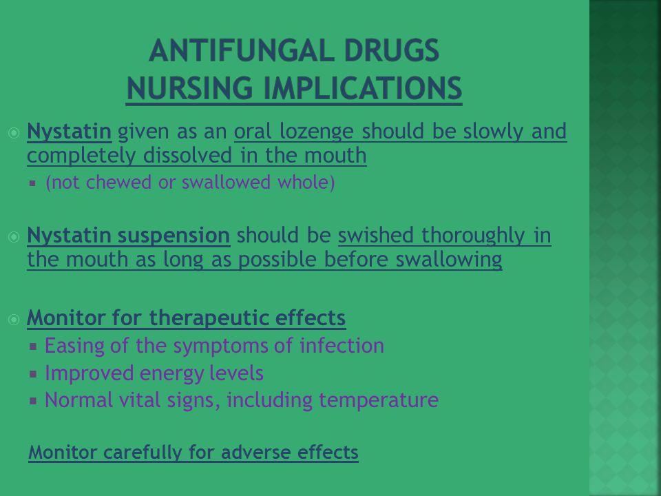 Antifungal Drugs Nursing Implications