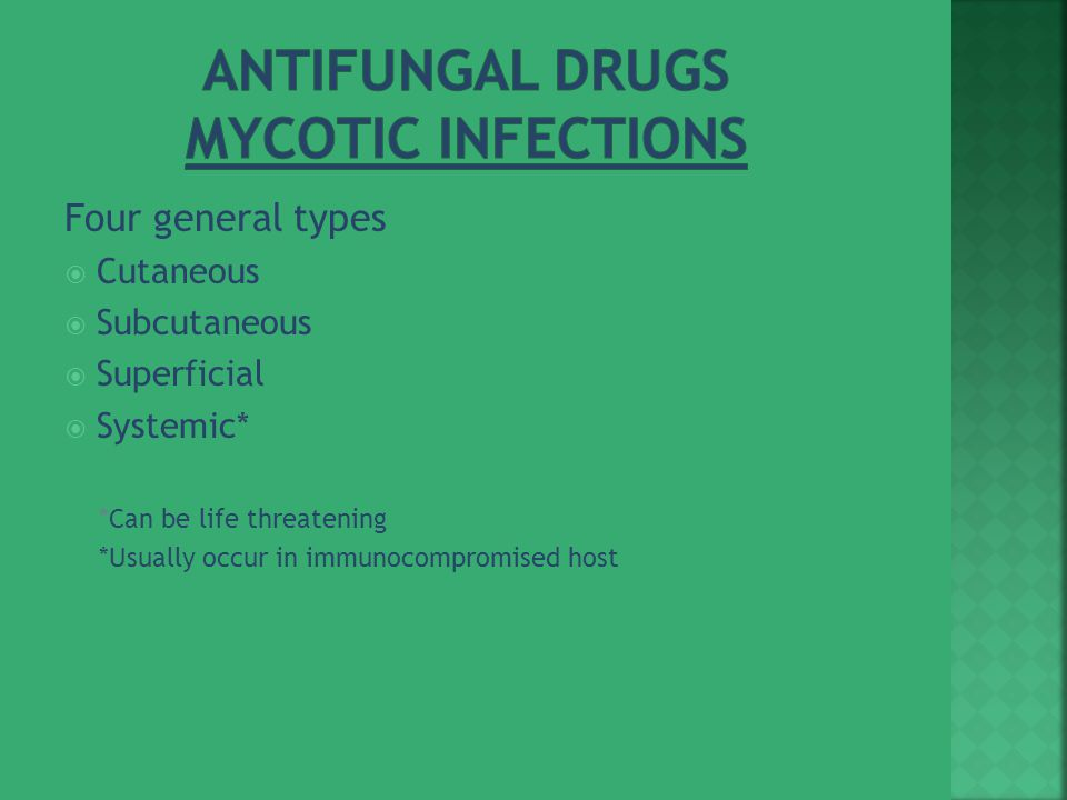 Antifungal Drugs Mycotic Infections