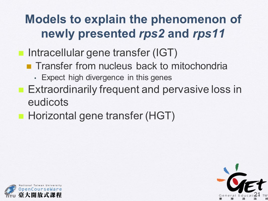 Models to explain the phenomenon of newly presented rps2 and rps11