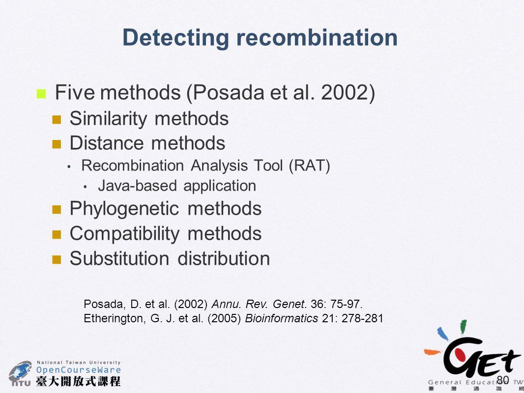 Detecting recombination