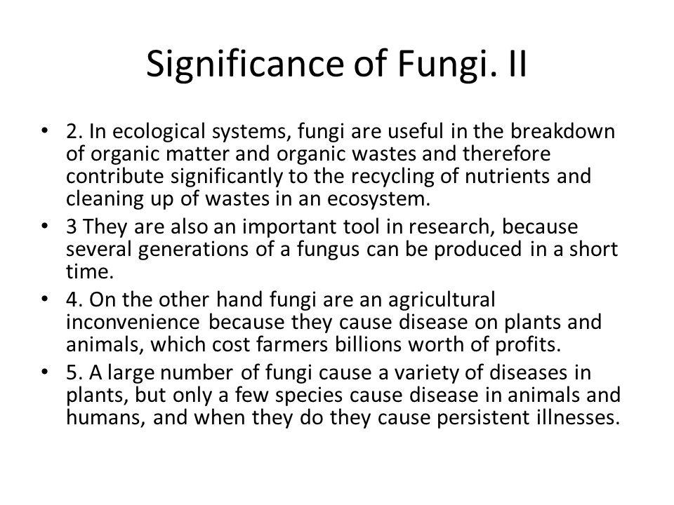 Significance of Fungi. II