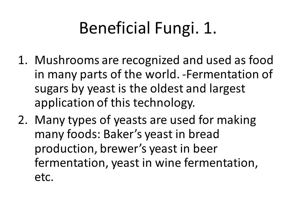 Beneficial Fungi. 1.