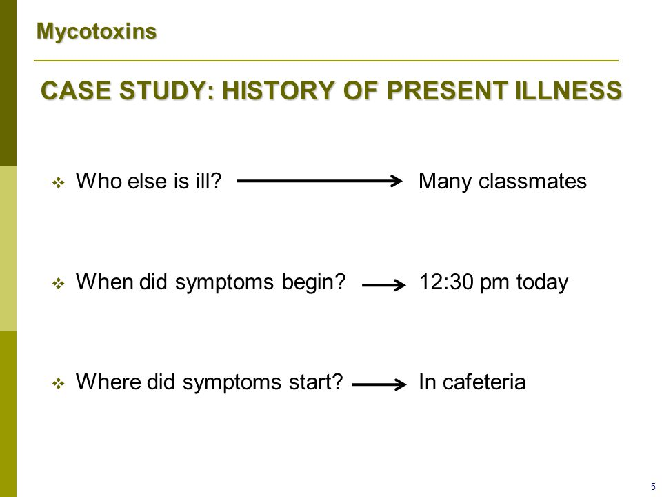CASE STUDY: HISTORY OF PRESENT ILLNESS