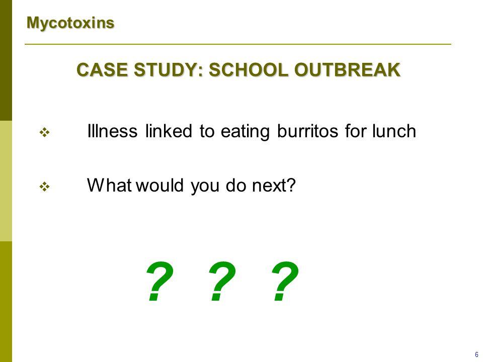 CASE STUDY: SCHOOL OUTBREAK