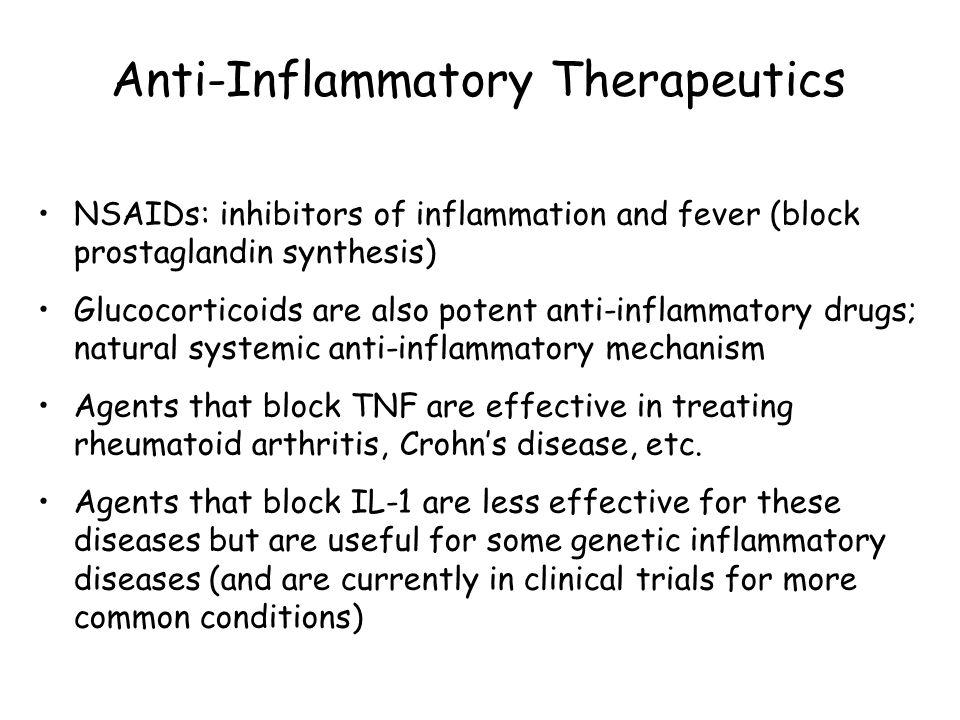 Anti-Inflammatory Therapeutics