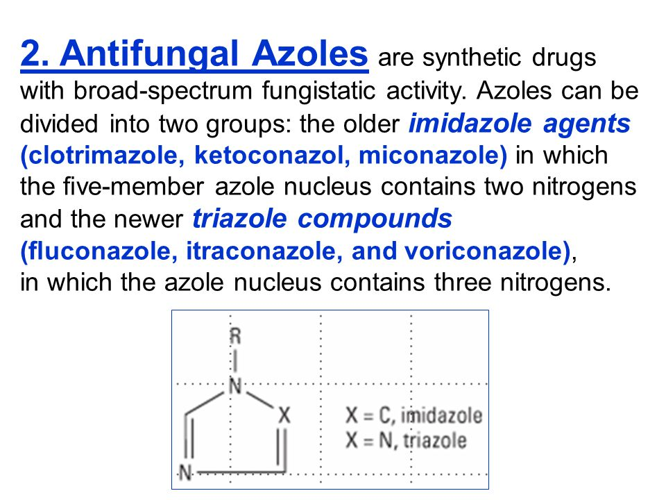 2. Antifungal Azoles are synthetic drugs