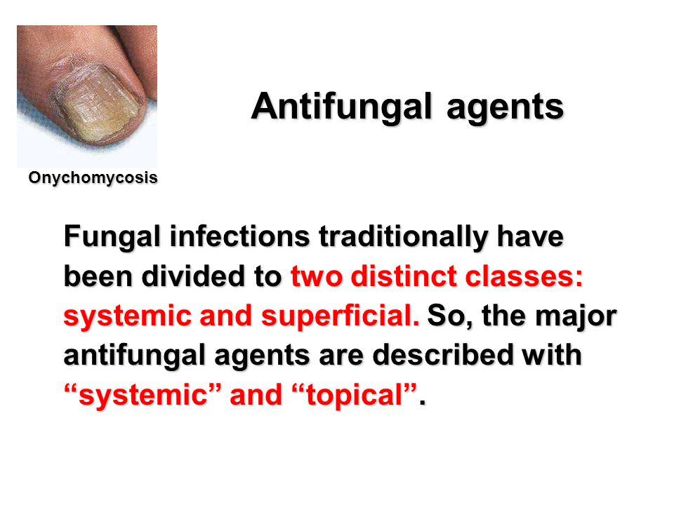 Antifungal agents Onychomycosis.