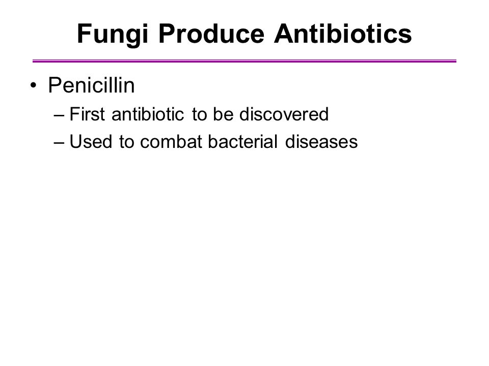 Fungi Produce Antibiotics