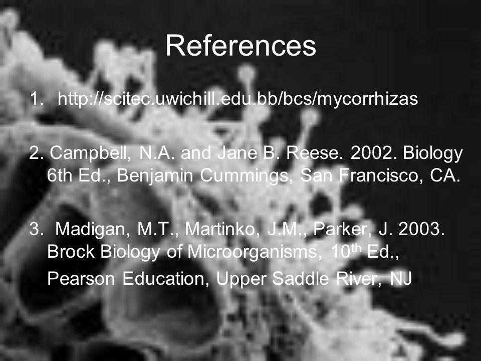 References 1. http://scitec.uwichill.edu.bb/bcs/mycorrhizas