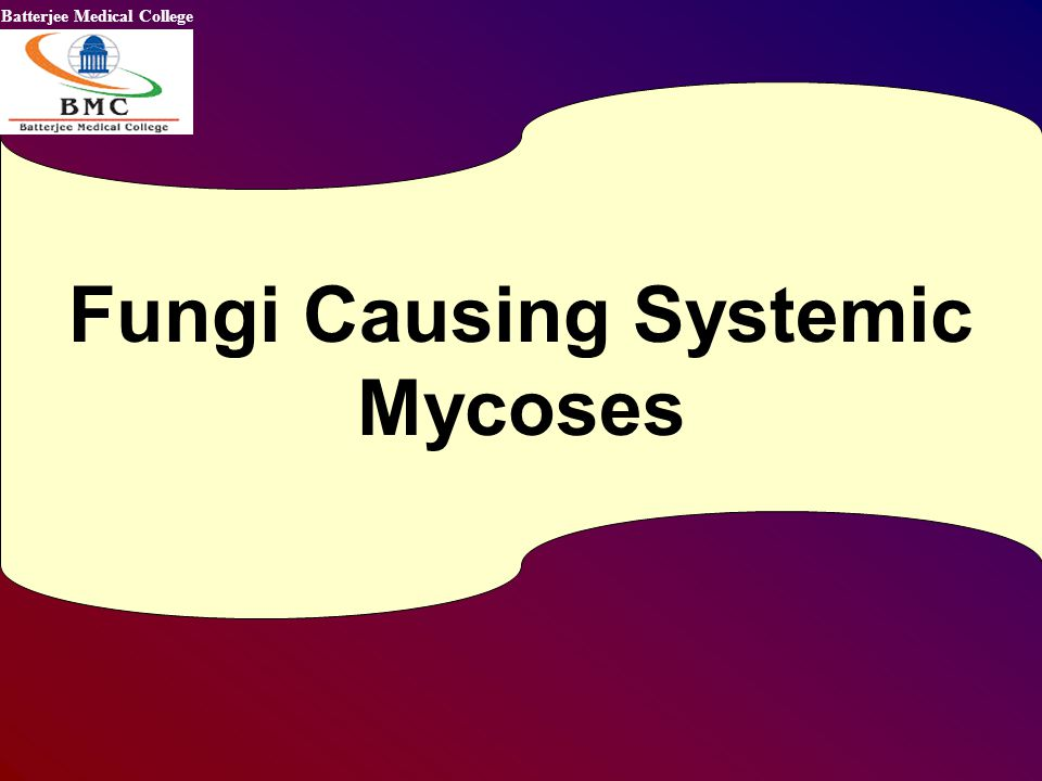 Fungi Causing Systemic Mycoses