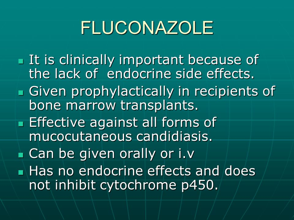 FLUCONAZOLE It is clinically important because of the lack of endocrine side effects.