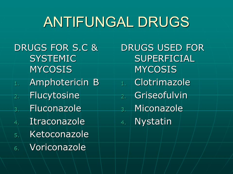 ANTIFUNGAL DRUGS DRUGS FOR S.C & SYSTEMIC MYCOSIS Amphotericin B