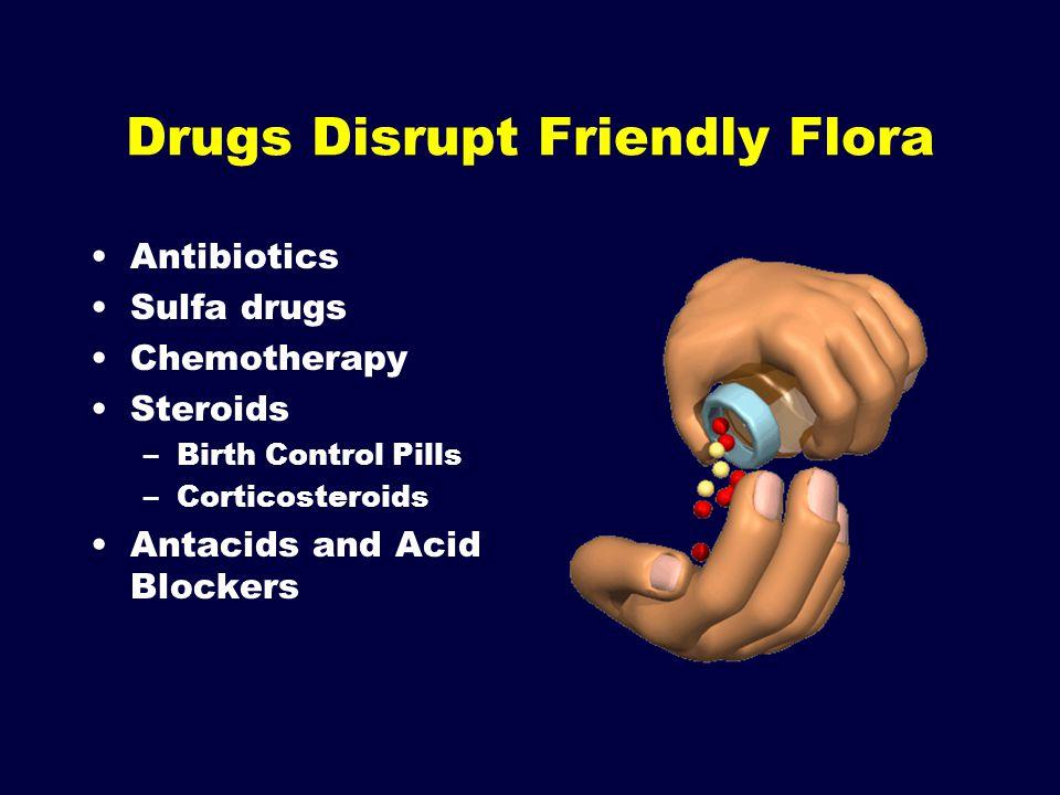 Drugs Disrupt Friendly Flora