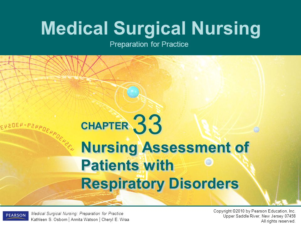 Nursing Assessment of Patients with Respiratory Disorders