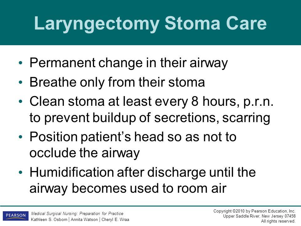 Laryngectomy Stoma Care