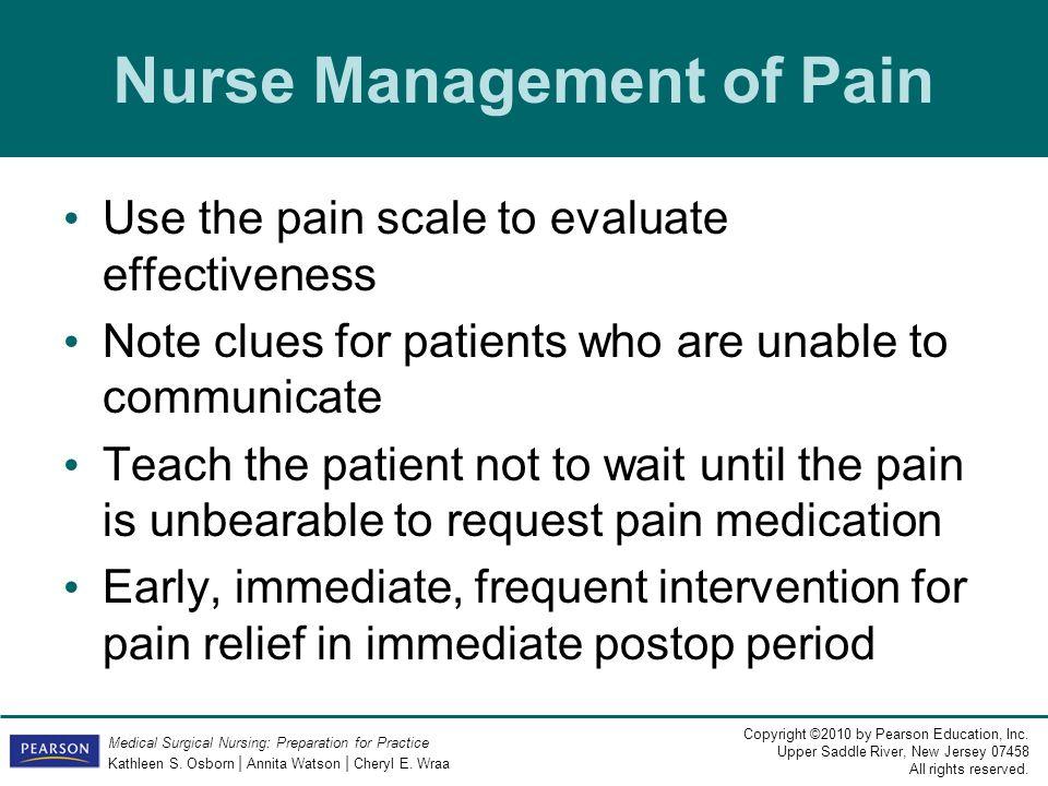 Nurse Management of Pain