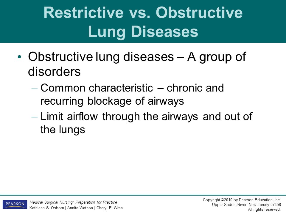 Restrictive vs. Obstructive Lung Diseases