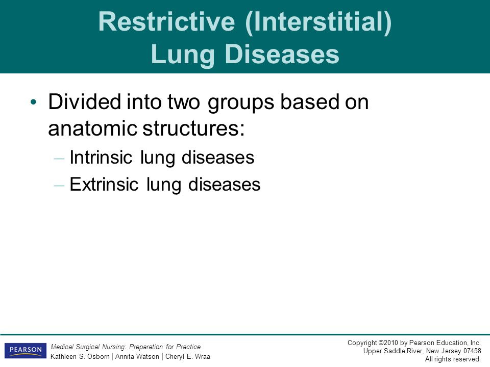 Restrictive (Interstitial) Lung Diseases