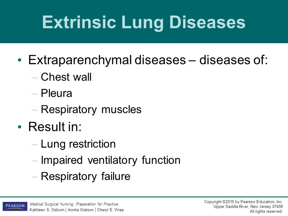Extrinsic Lung Diseases