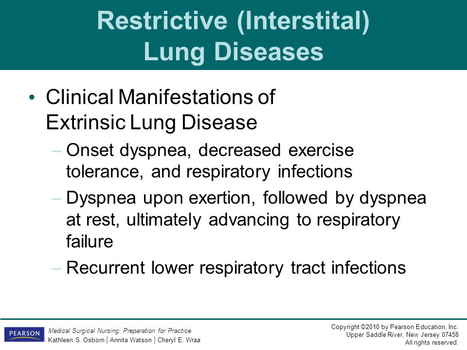 Restrictive (Interstital) Lung Diseases