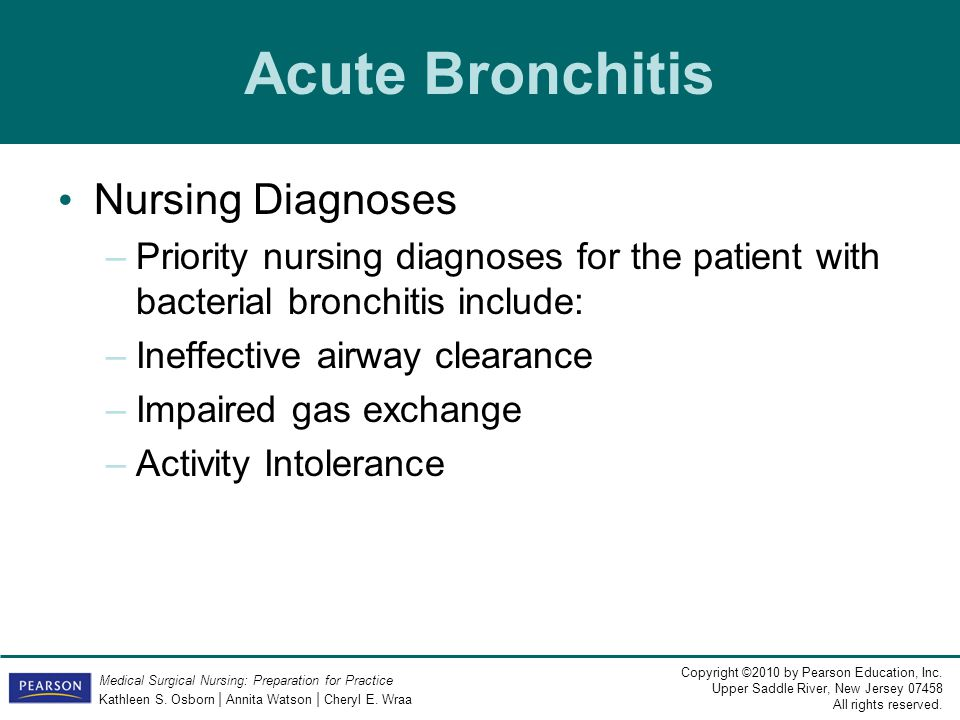 Acute Bronchitis Nursing Diagnoses