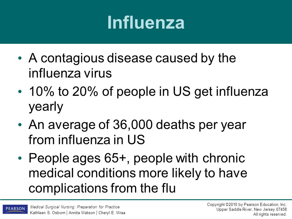 Influenza A contagious disease caused by the influenza virus