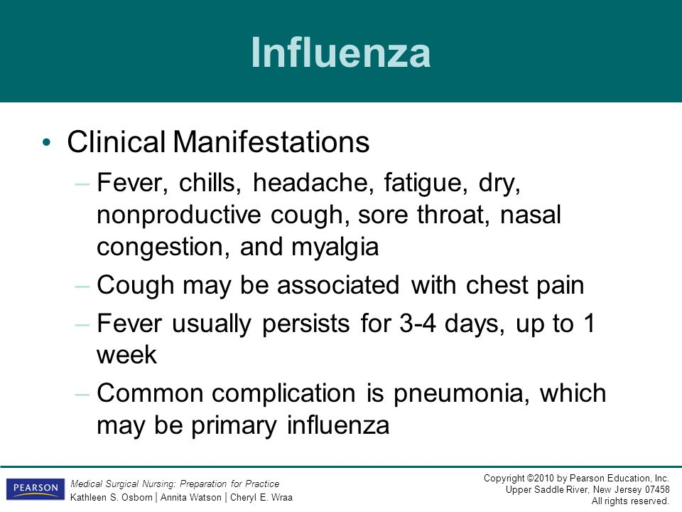 Influenza Clinical Manifestations