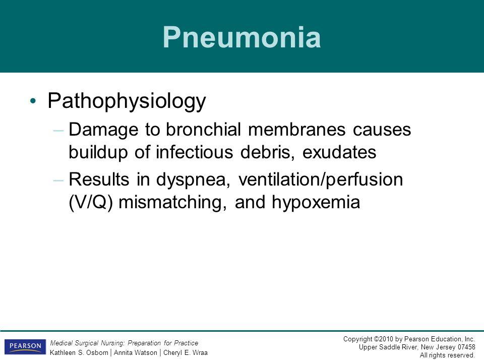 Pneumonia Pathophysiology